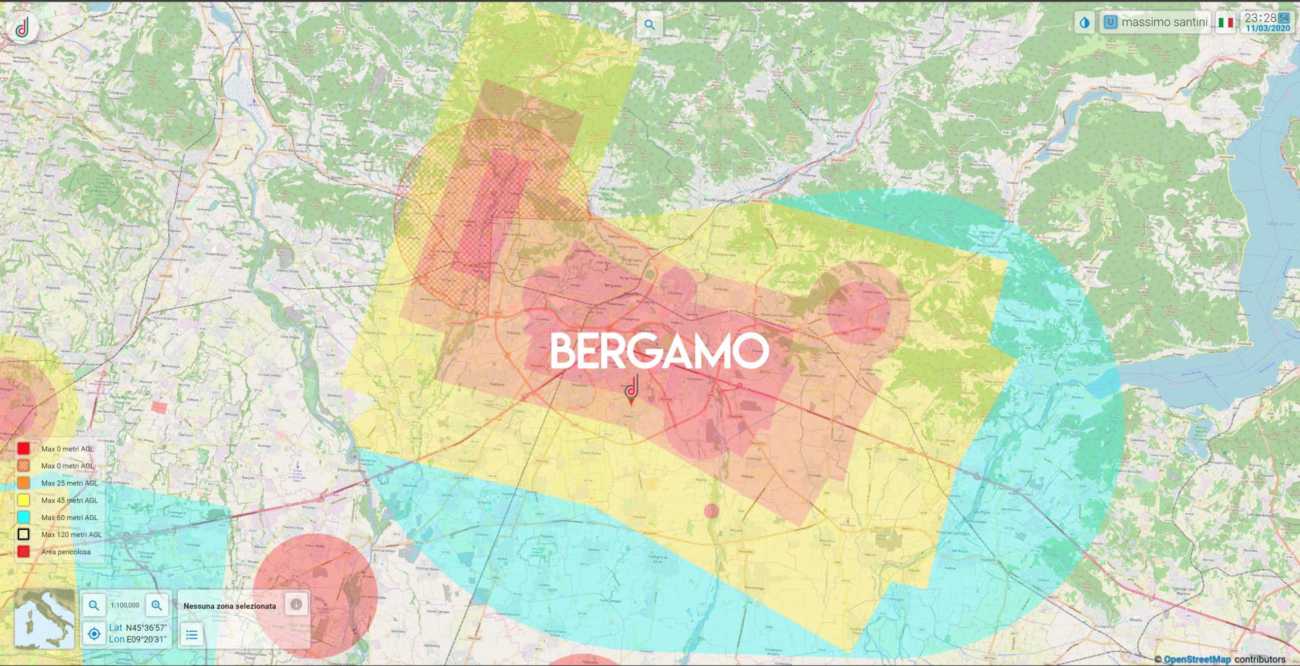 Mappa Aeronautica Bergamo
