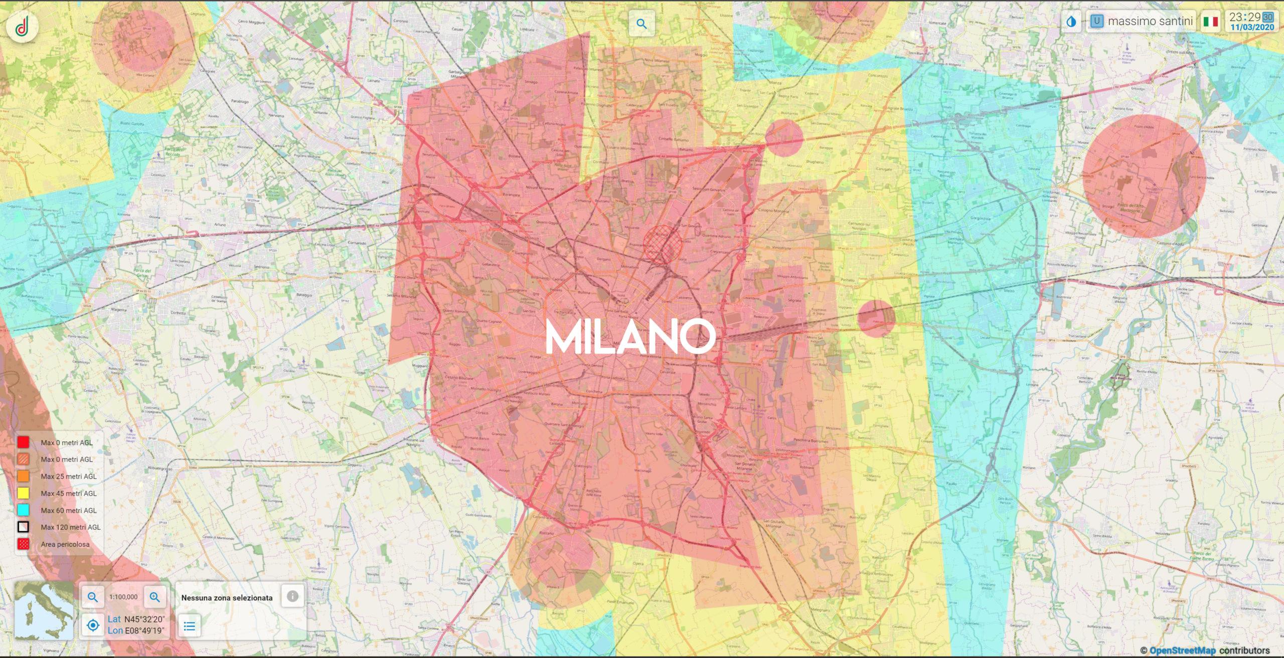 Mappa Aeronautica Milano