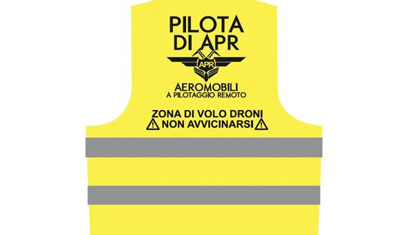 Pilota Sapr Drone Giubbetto Catarifrangente Uas
